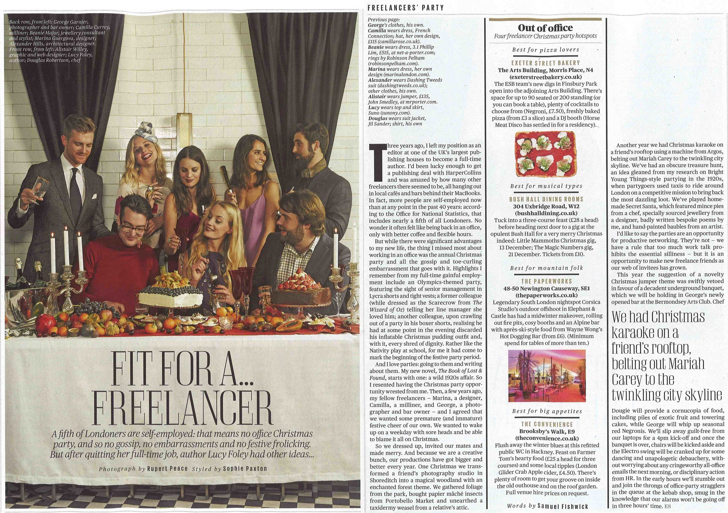 ES Magazine - December 5th 2014  (Octavia Headpiece)