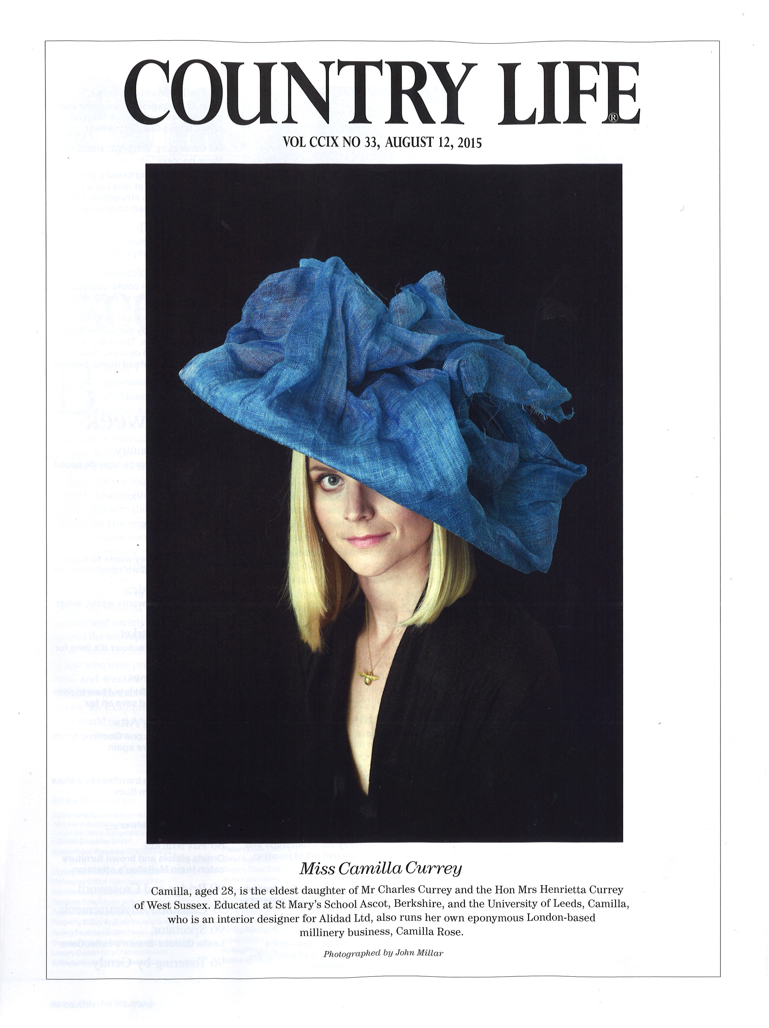 Country Life - August 12th 2015  (Gale Force Hat)