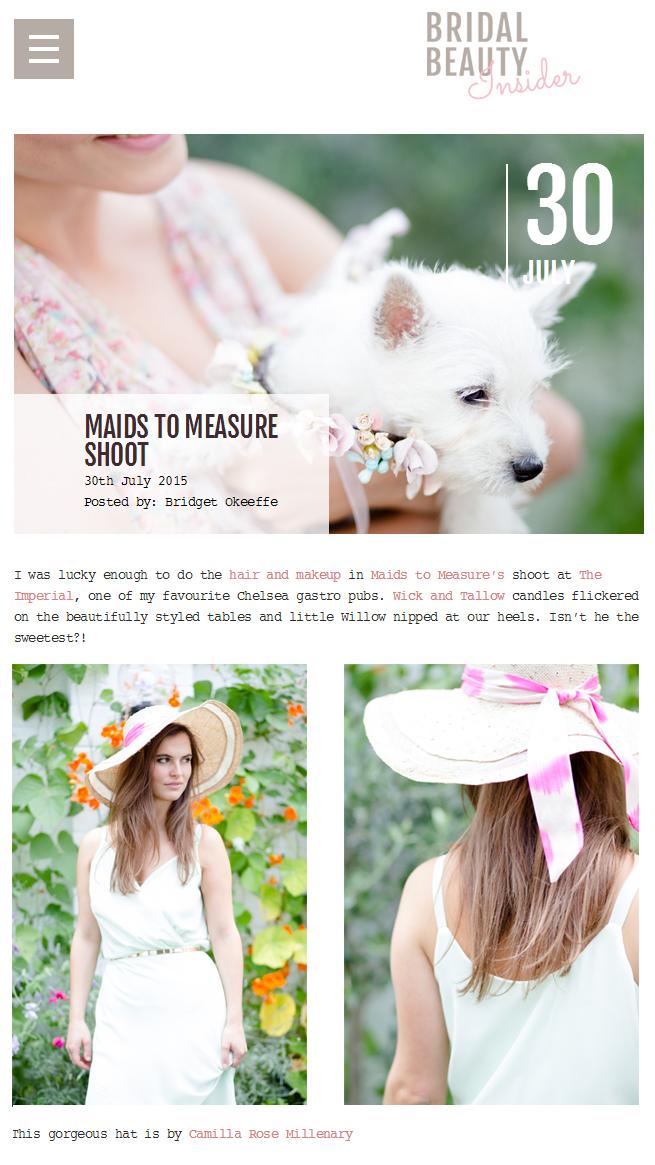 Bridal Beauty Insider - July 30th 2015  (Bespoke Hat)