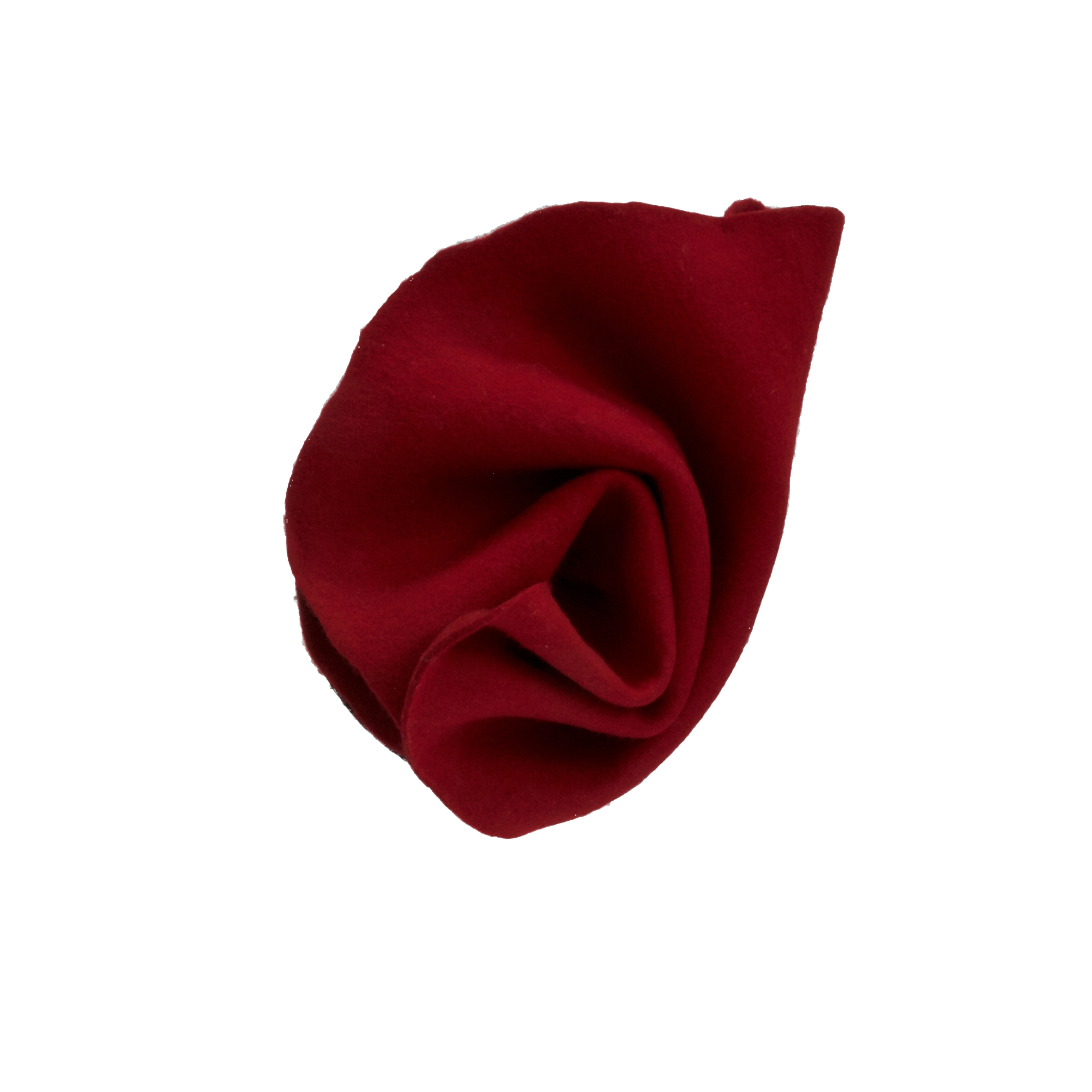TULIP - £60  Red twisted headpiece which sits on small disk.
