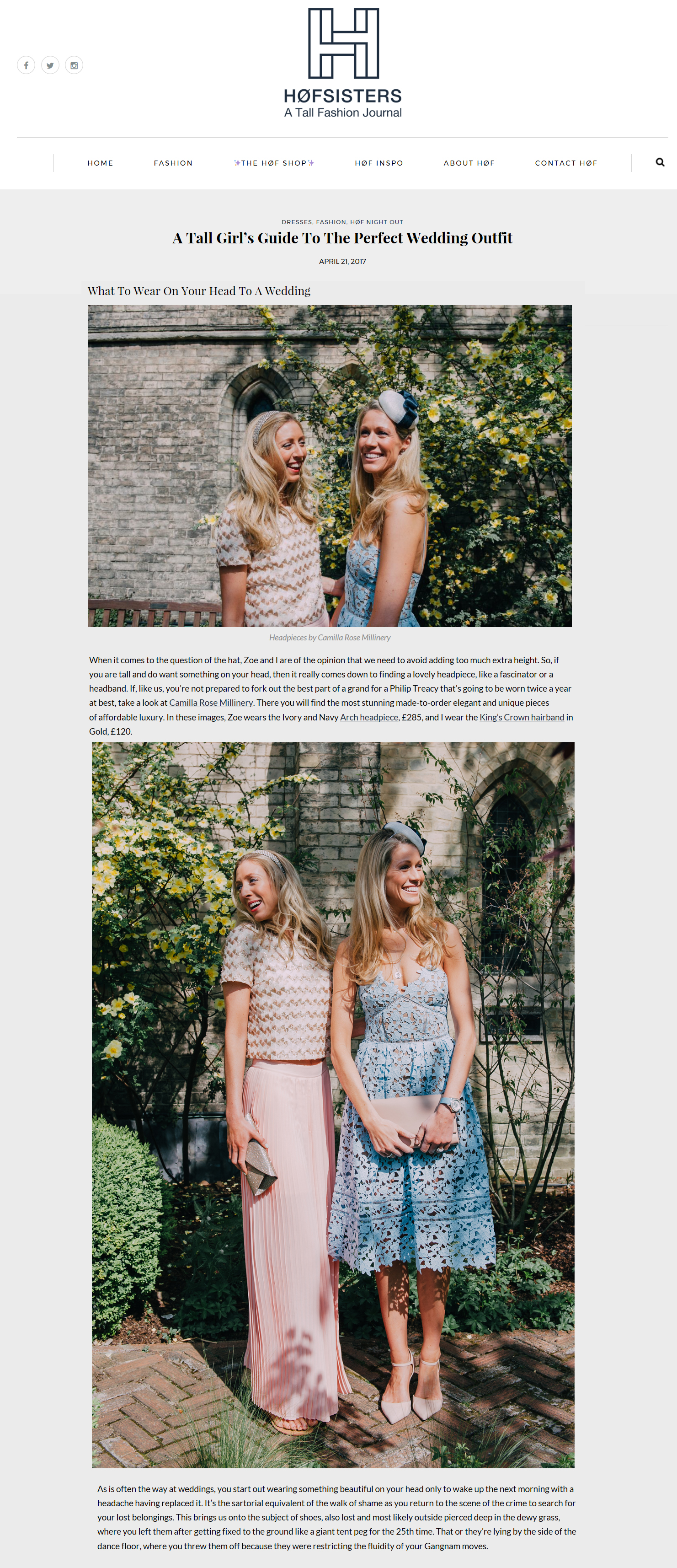 HoF Sisters, Tall Fashion Journal - 21st April 2017  (Kings Crown Hairband & Arch Headpiece)