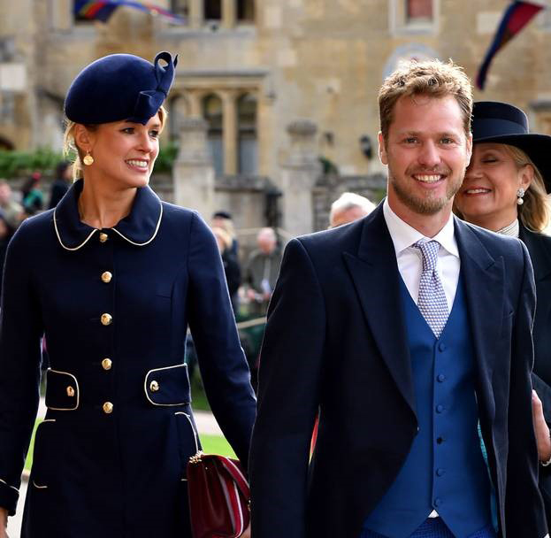 Daily Mail - Isabella Calthorpe - Royal Wedding October 2018  (Dart Headpiece Navy)