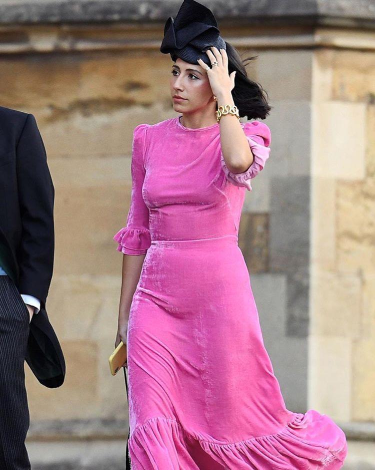 Daily Mail - Andrea Villanueva de Milne - Royal Wedding October 2018  (Helix Headpiece)