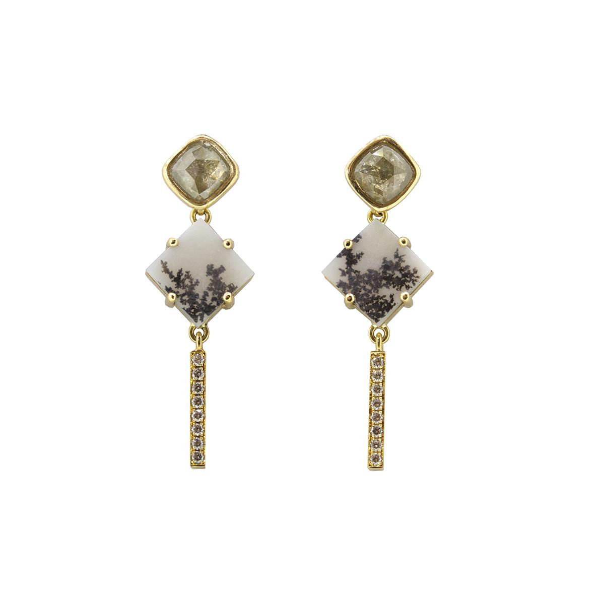 Square agate and diamond studs earrings Sorrel Bay.jpg
