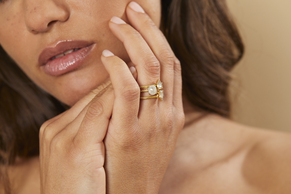 Alternative Bridal - Whether you are looking for something simple, textured, flush or claw set, it doesn't need to be the usual traditional style. Our rose cut diamonds are all hand cut, therefore no two can ever be the same. As we strive to source gems from mine to market from ethical sources, our designs are not only unusual and unique but come with the assurance of responsible and conscious luxury.