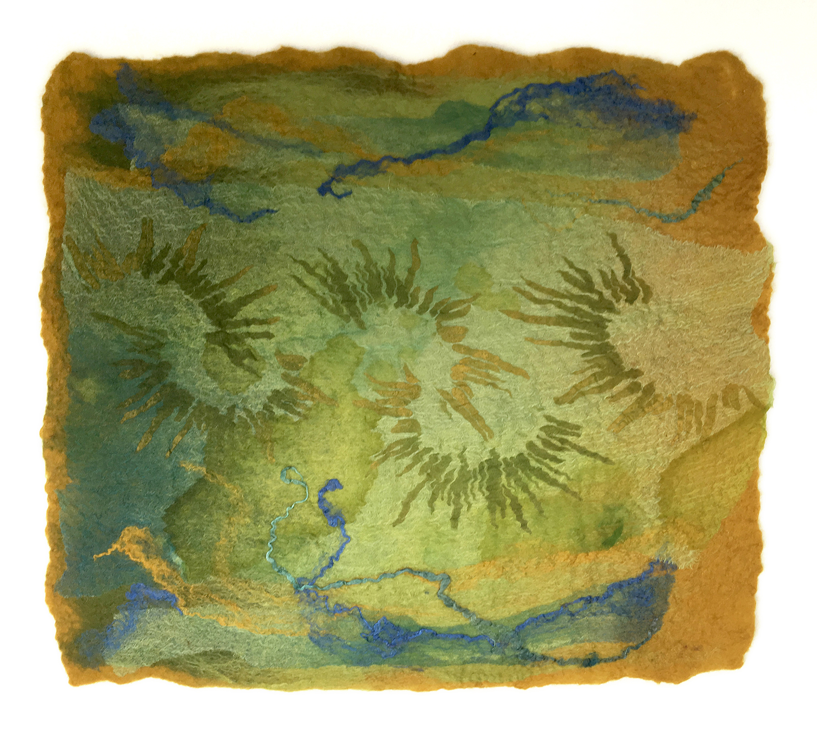 Summer Solstice by Melanie West, 2019 wool and hand painted silk