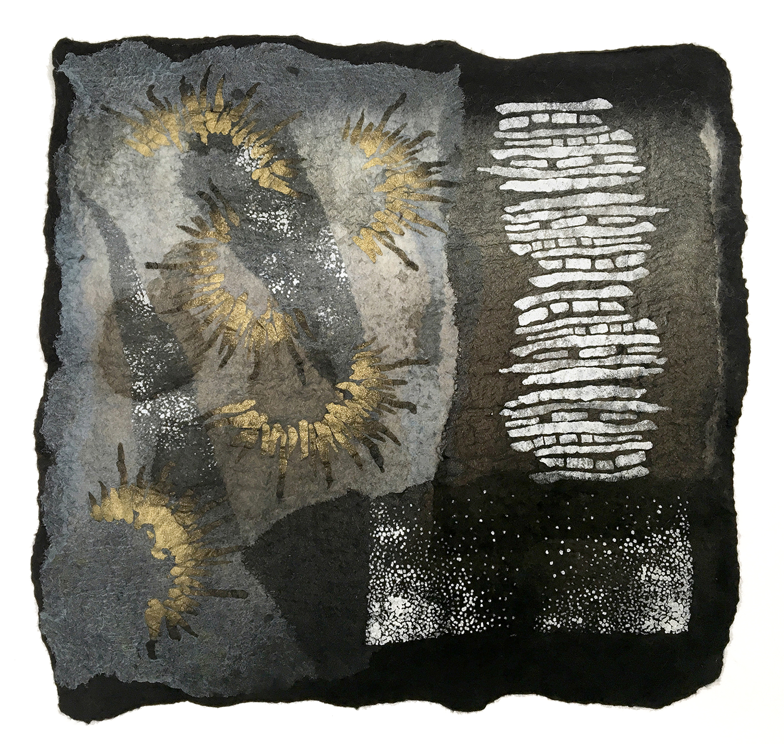 Searching the Night Sky by Melanie West, 2019 wool and hand painted silk