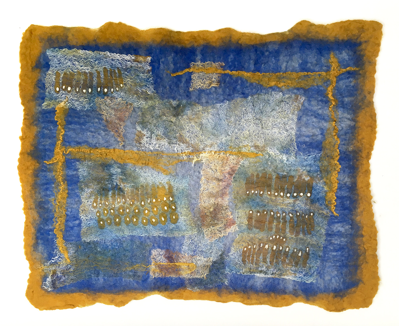 Protazoa Conference by Melanie West, 2019 wool and hand painted silk