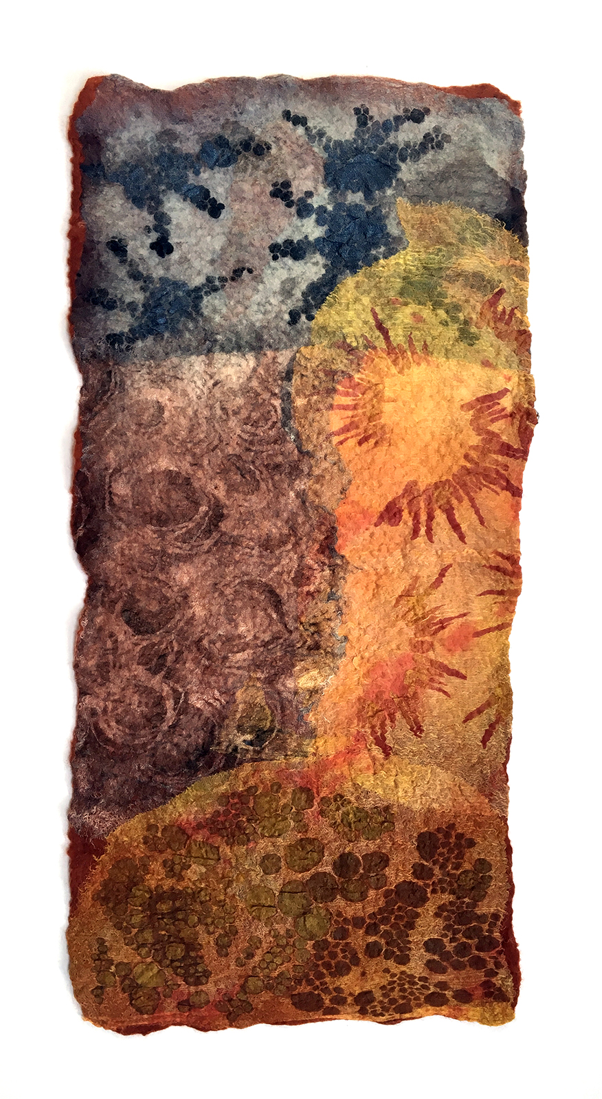 Soil 1 by Melanie West, 2019 wool and hand painted silk