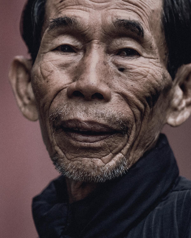 Portrait of a local man in a village near Hoi An.