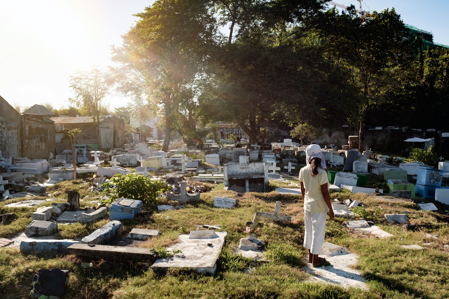 Inik Zuniga has lived amongst the dead at this cemetery since 1983.