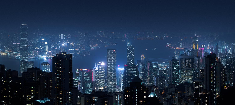 Hong Kong skyline from The Peak.