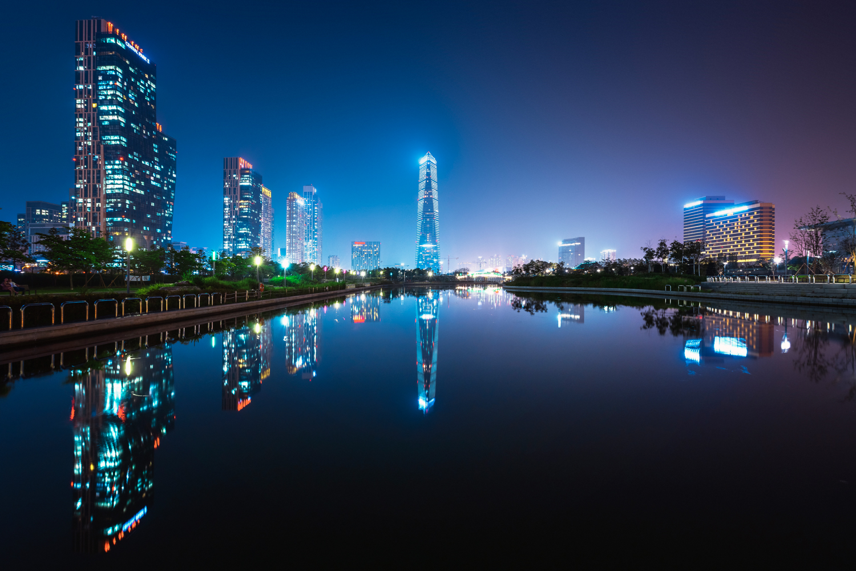 The masterplan city of Songdo.