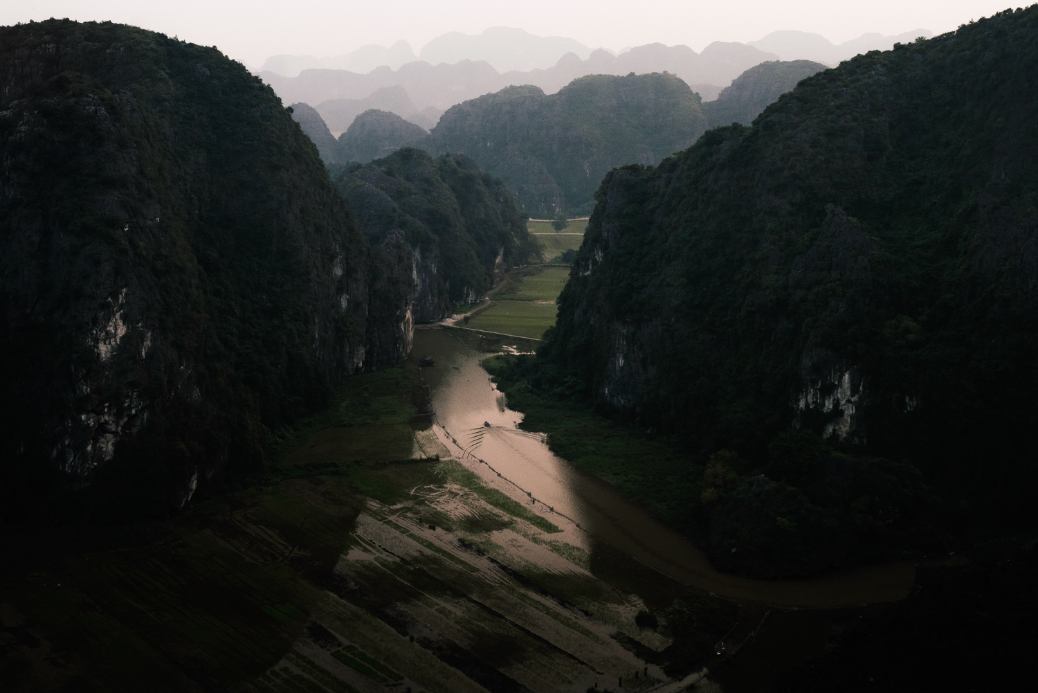 The 'Halong Bay on Land', Tam Coc.