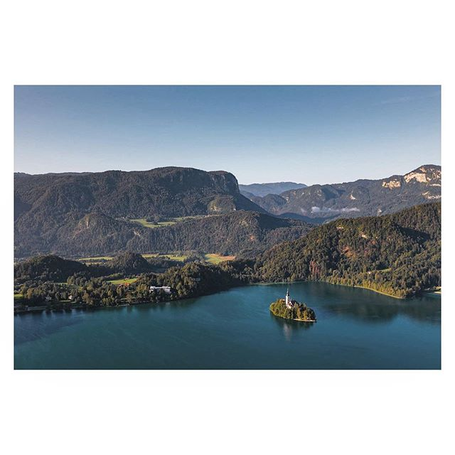 Lake Bled from above, Slovenia.