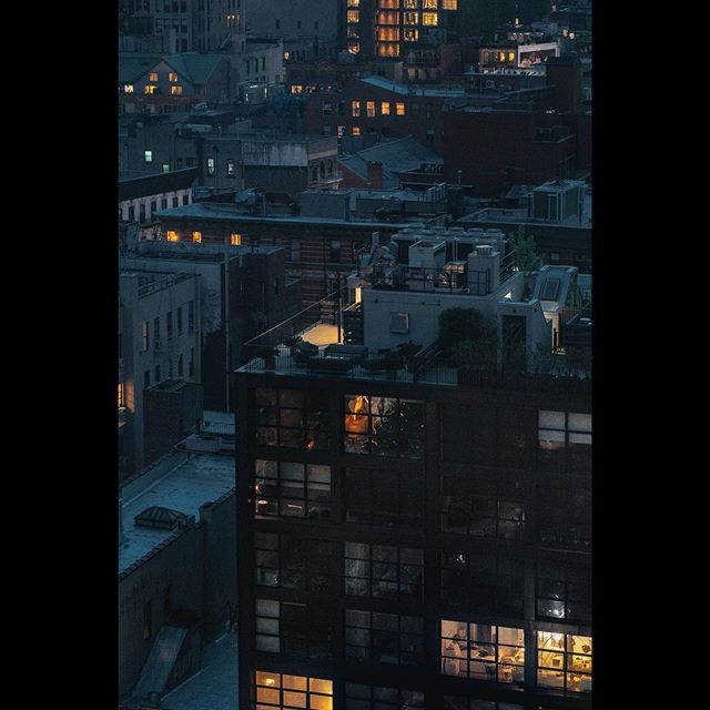 Manhattan, getting ready for bed.
