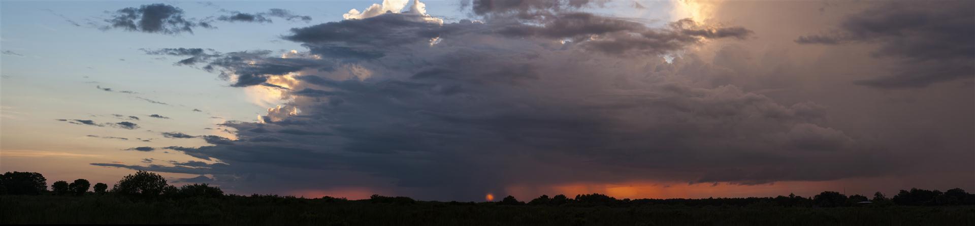 Sunset Through Storm