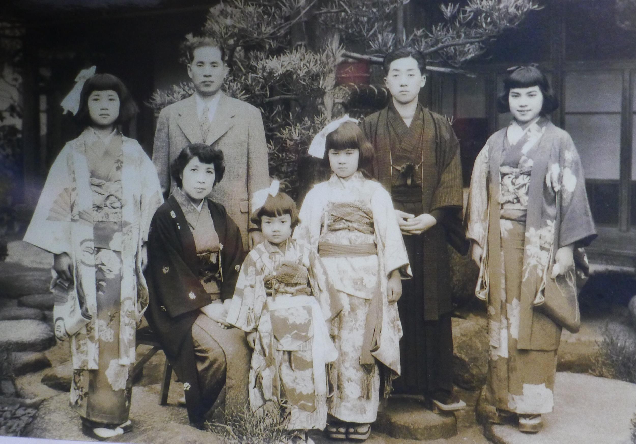 Soyoko's family, Osaka, ca. 1950