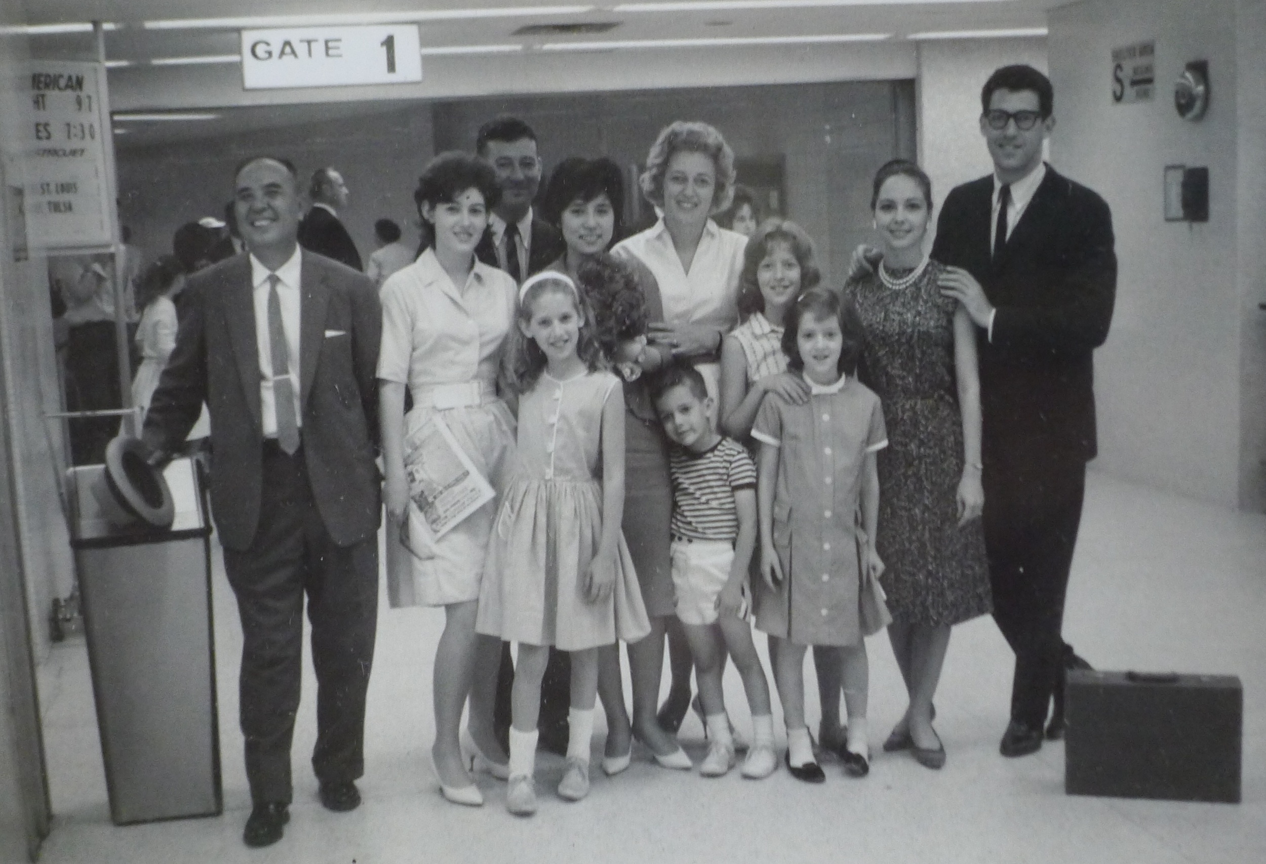 Soyoko on her arrival in New York, with the Gussack Family, ca. 1963