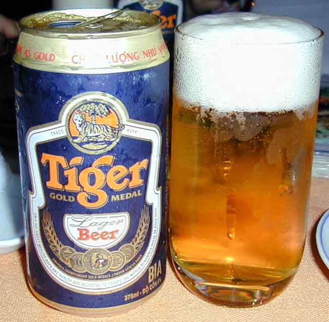A Tiger Beer on the way to Melbourne