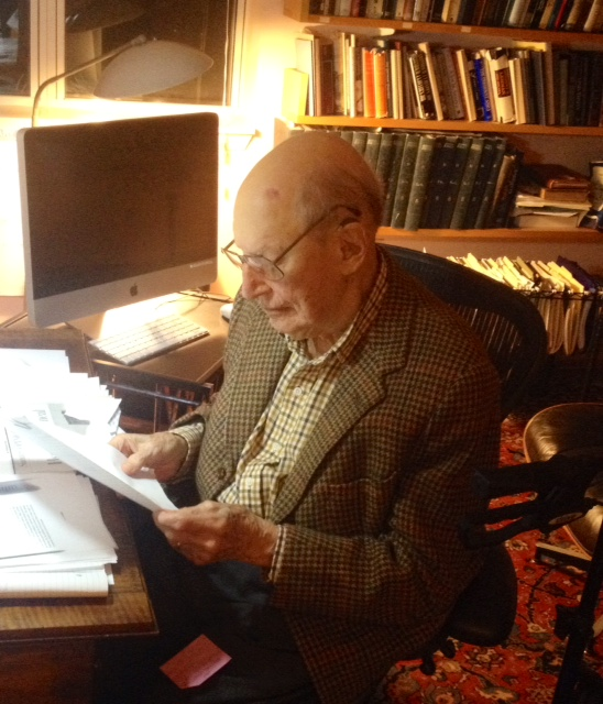 The poet Henry Morgenthau in 2014, whose new work has appeared in NIMROD and other journals this year. He began writing two years ago at the age of 95.