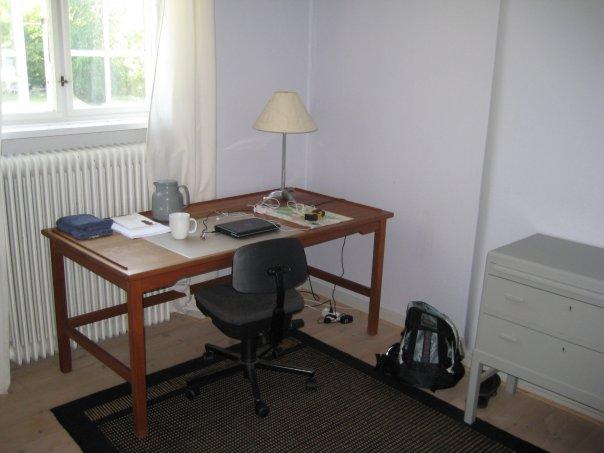 My writing table in Viborg, Jutland, 2009
