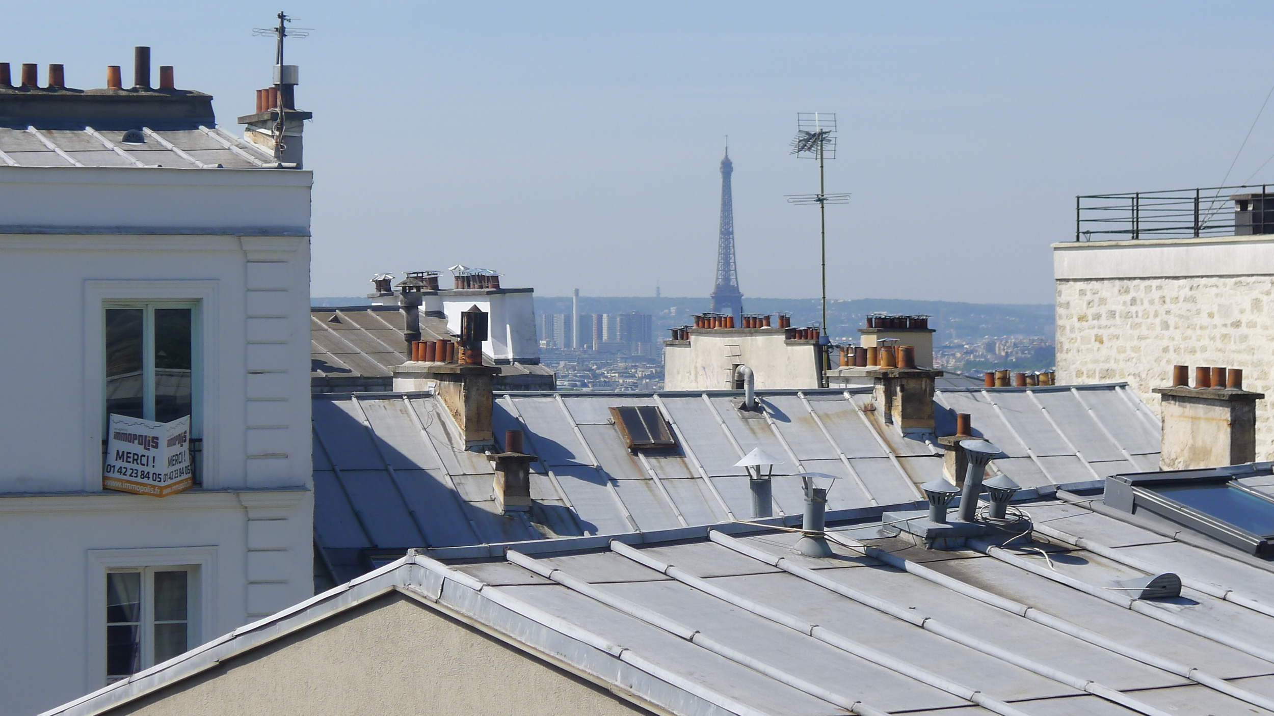 The rooftops at Monmartre