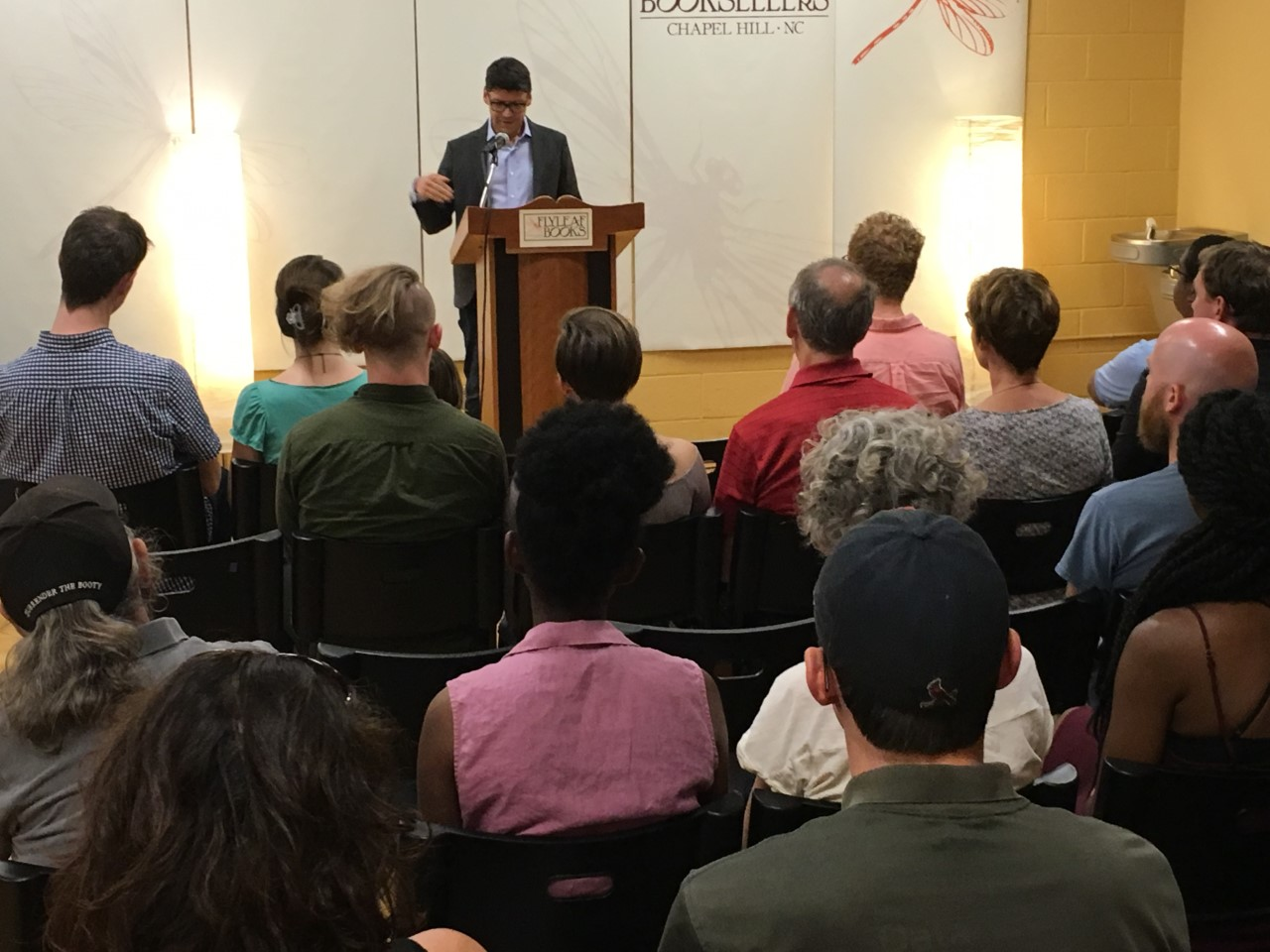 June 29, 2018 in Chapel Hill at Flyleaf Books. Reading from  Topiary  and  Another City;  Joe Fletcher read from his debut book  The Hatch