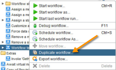 Duplicate the Workflow