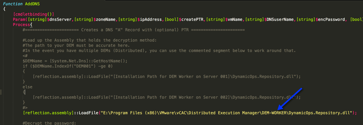 Change the path in both powershell files