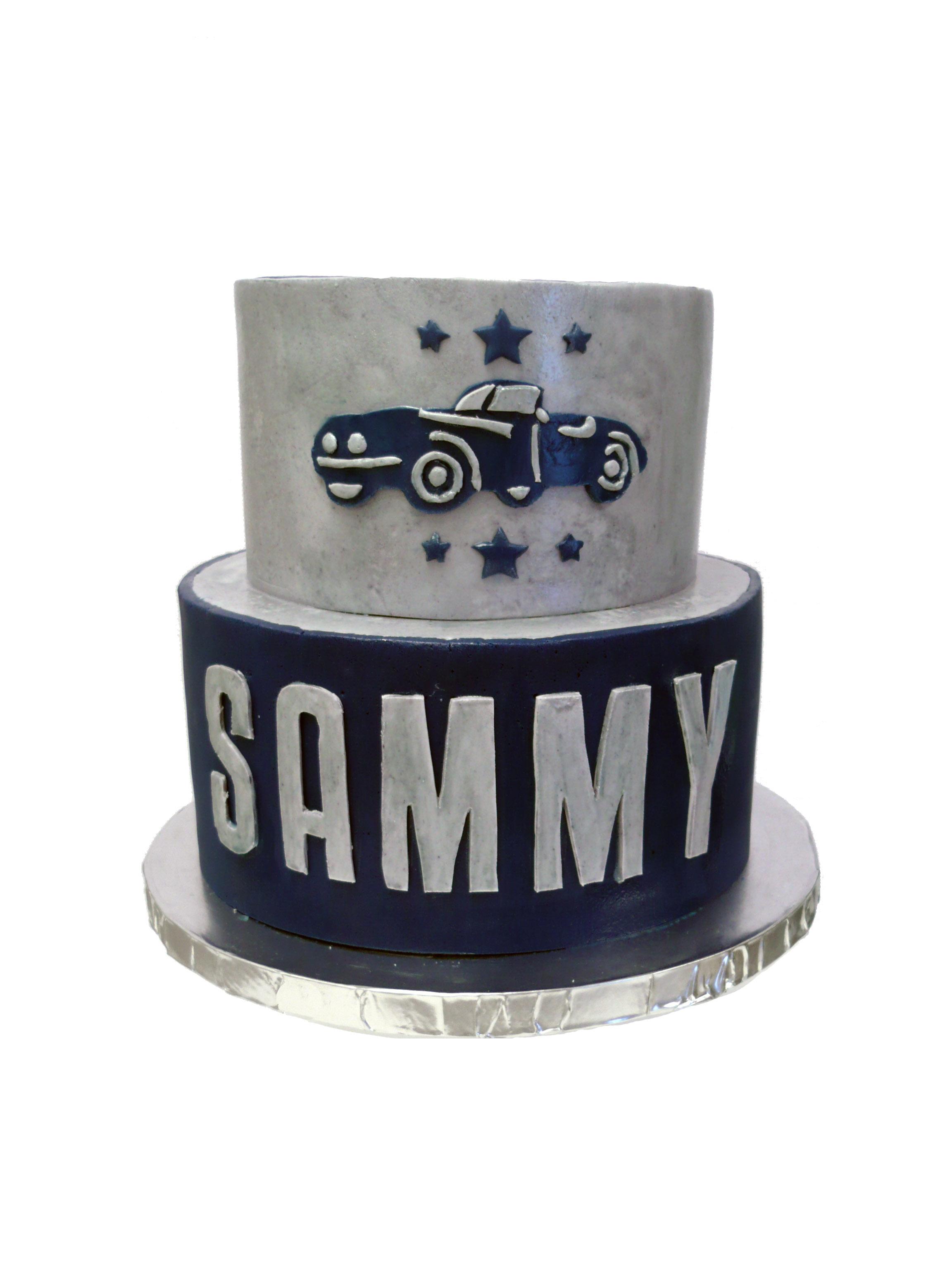 Vintage Car Birthday Cake