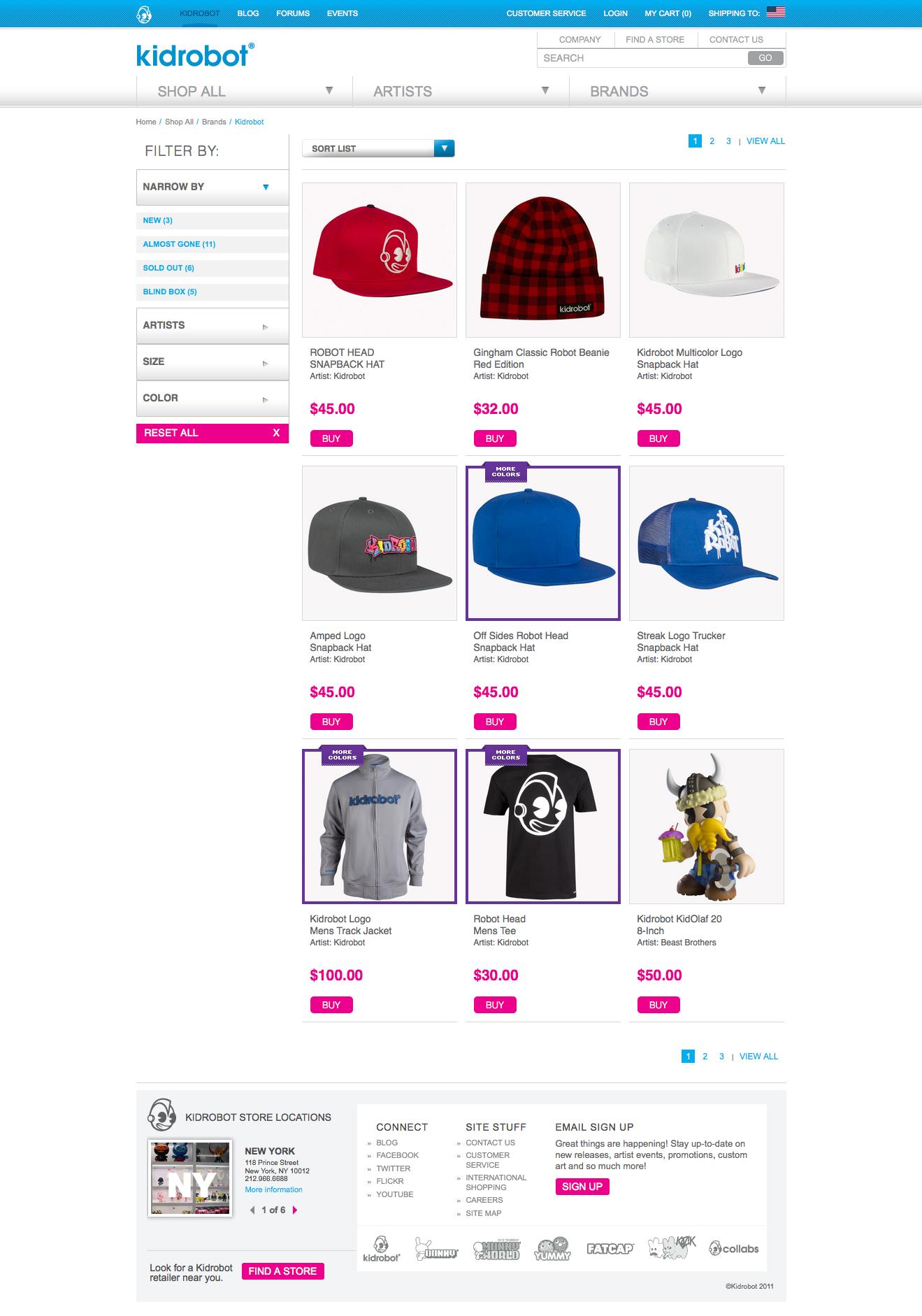 Brands Landing Page