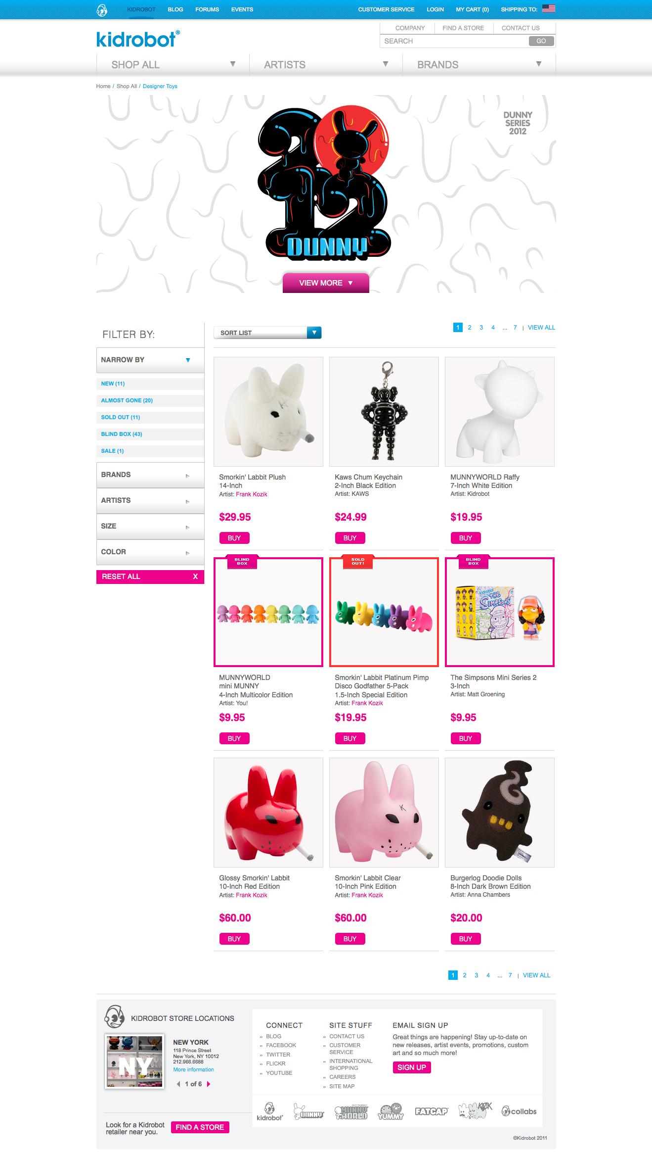Toys Landing Page
