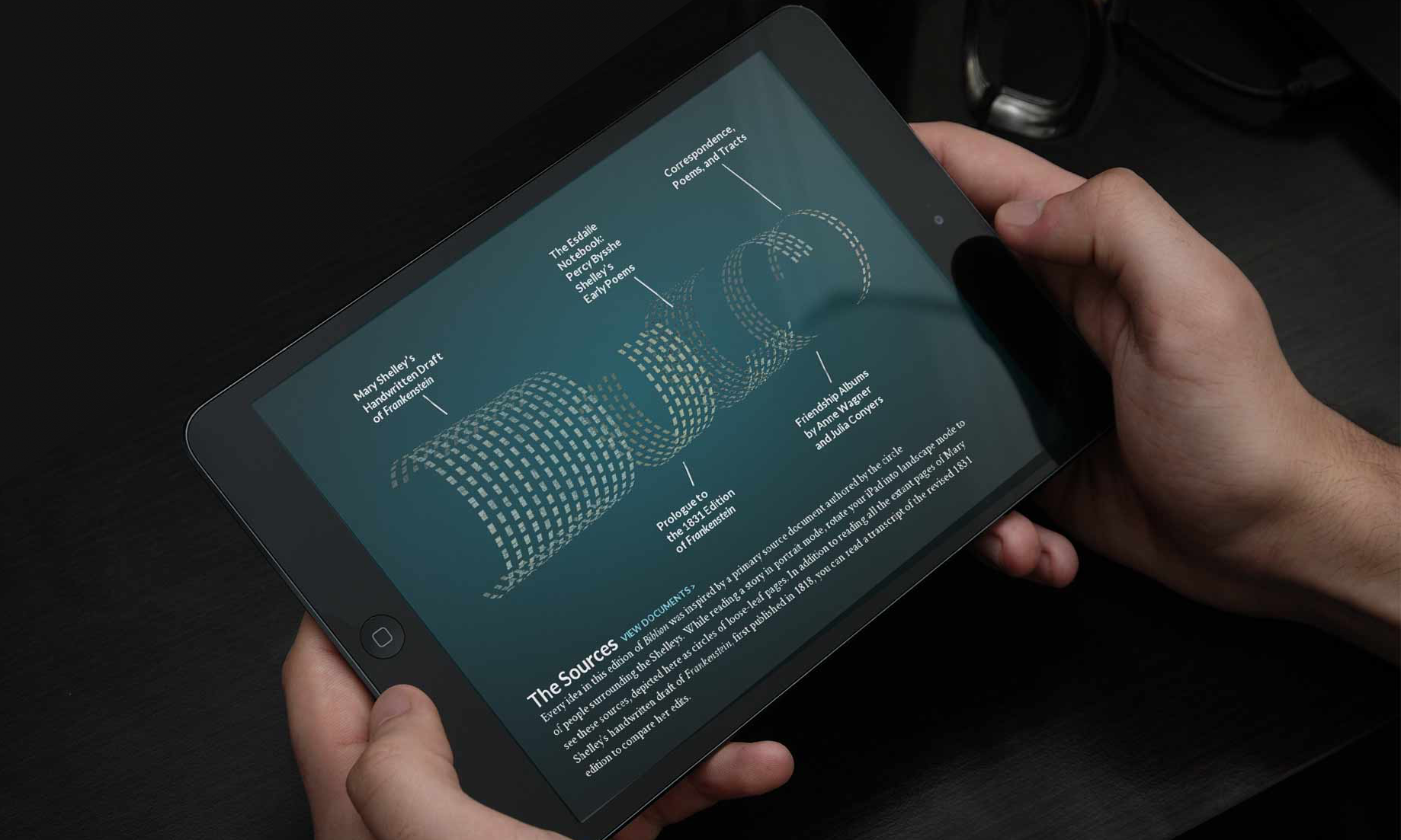 New York Public Library  Immersive Education iPad app about Frankenstein and beyond   • Experience Design • UI Design • Content Strategy