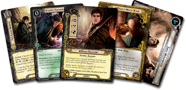 Cards from the second Saga Expansion - A thematic set focused on retelling the stories as written in Tolkien's books.