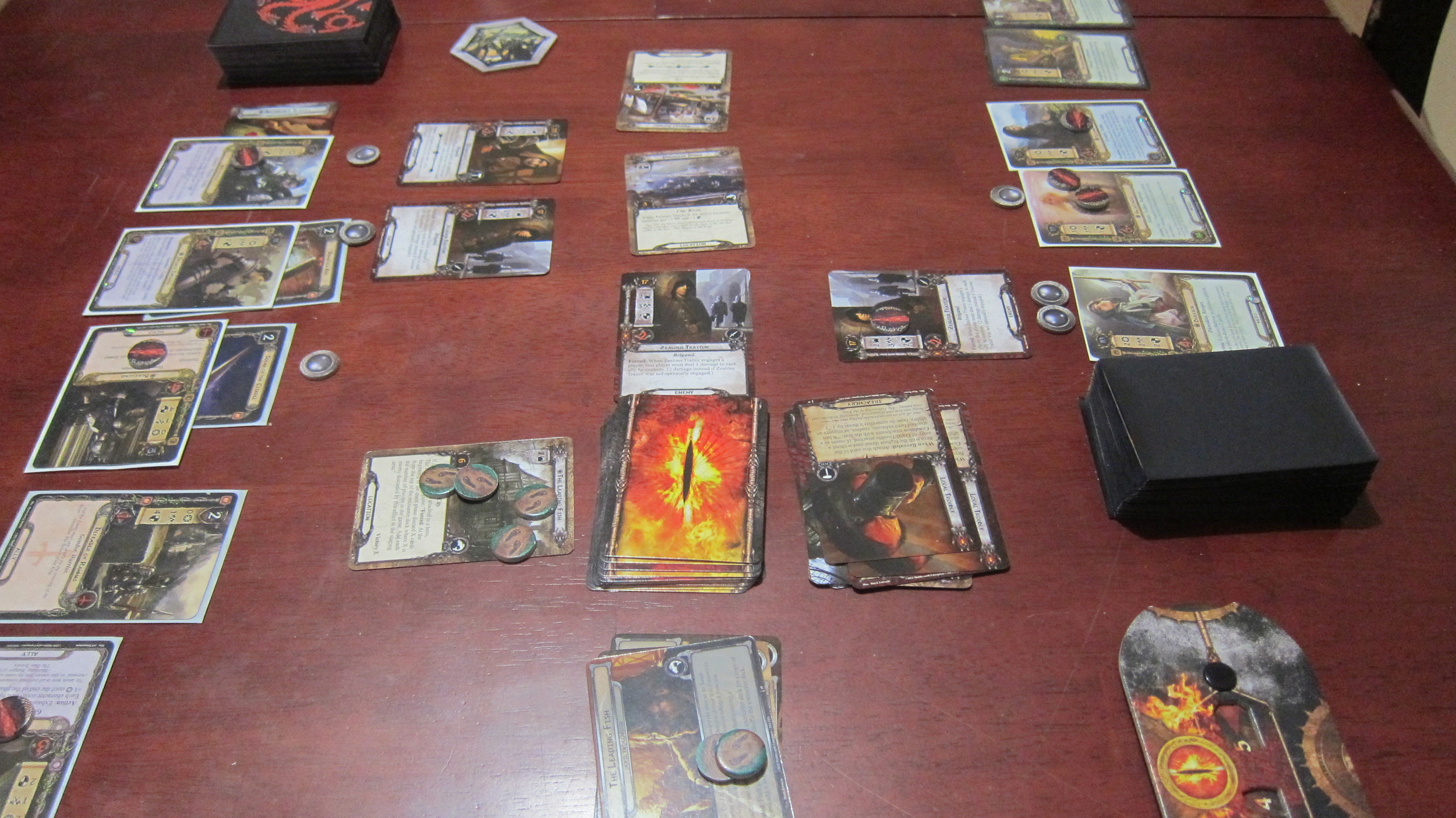 At this point in the game we stabilized. We thought it was going to be OK. We thought we would make it. And then we flipped the top card of the encounter deck...
