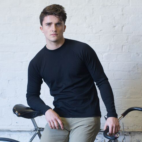 Base layer male cyclist