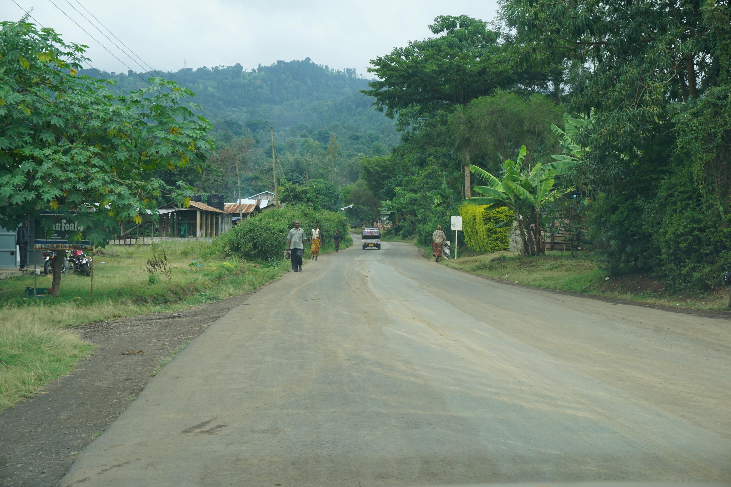 The road to Aranga.