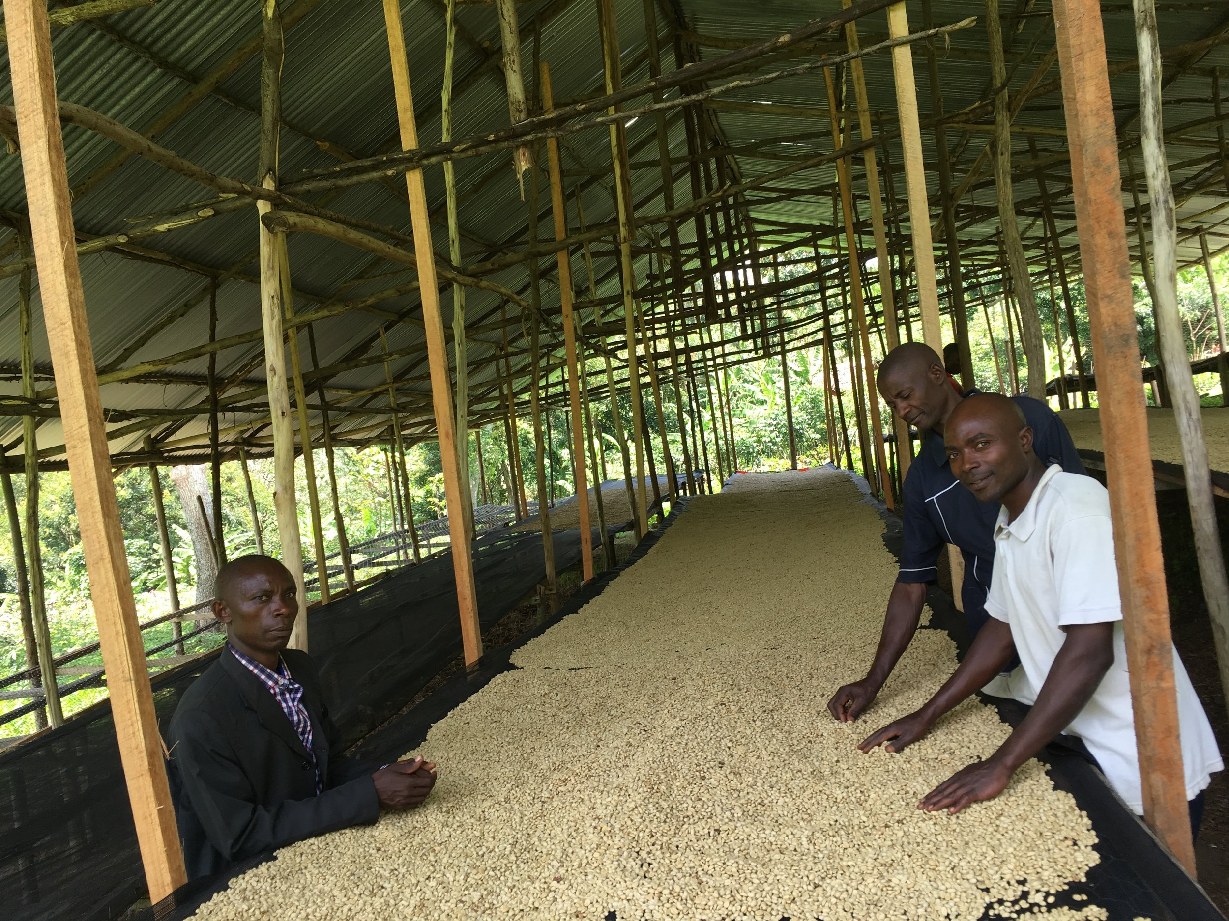 Ngula station local farmers who make up the quality management team.