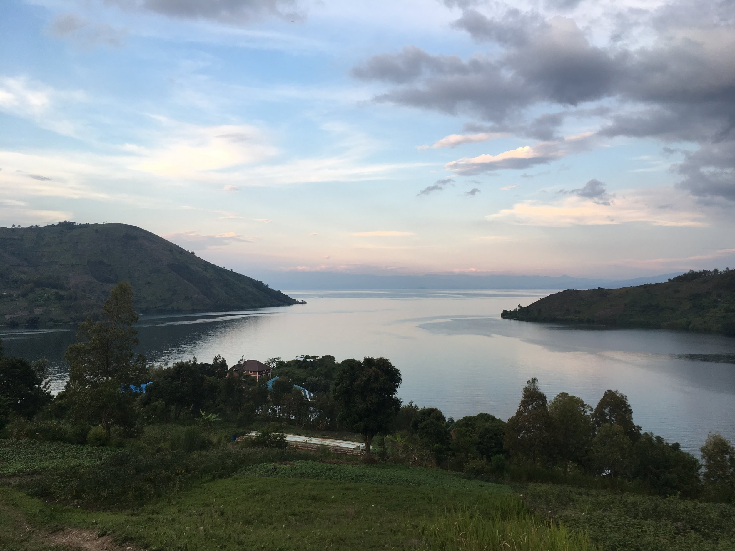 Another view of the lake and Rwanda in the back.