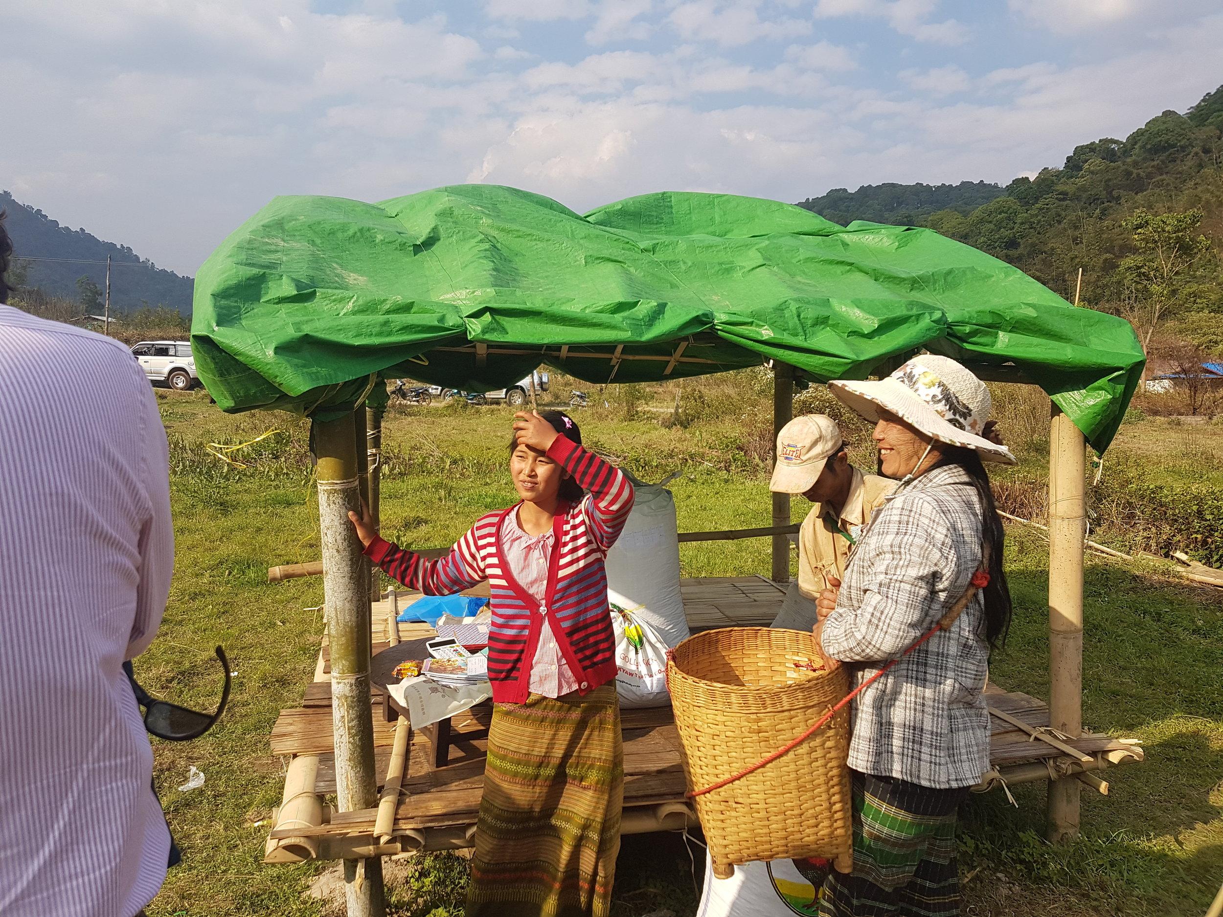 Villagers at Bant Sawk.