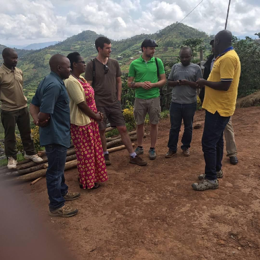 Doubleshot's Jaroslav Tucek visiting Coko together with Misozi's Kevin Nkuzimana