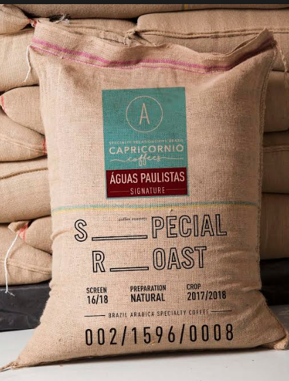 Signature lots such as the Aguas Paulistas made for Special Roast come in customised polypropylene bags.
