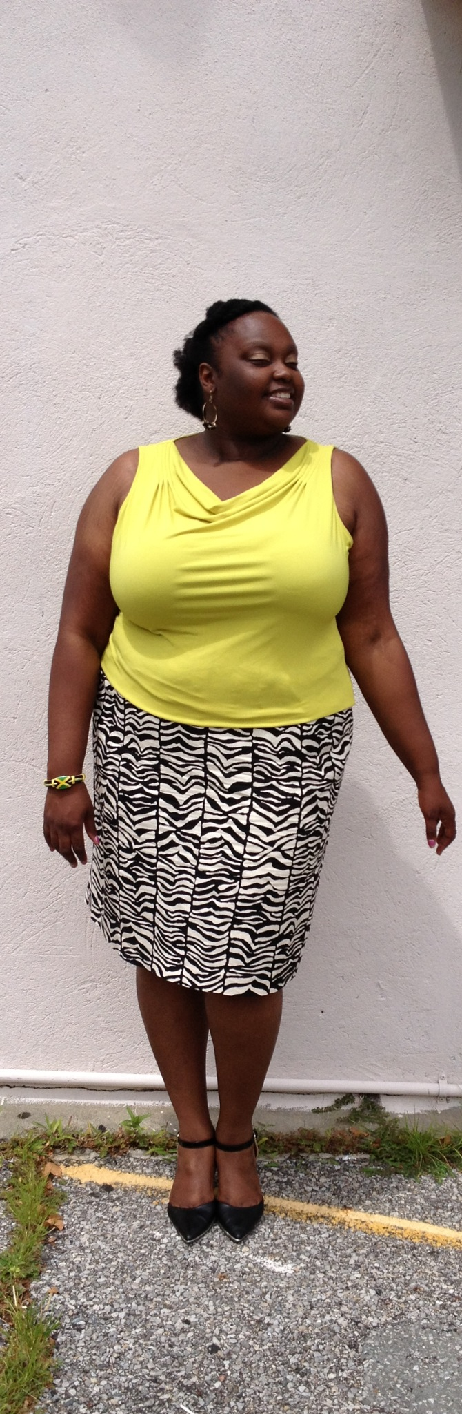 Curvy Woman Style Crystal H in Green and Zebra 2.jpg