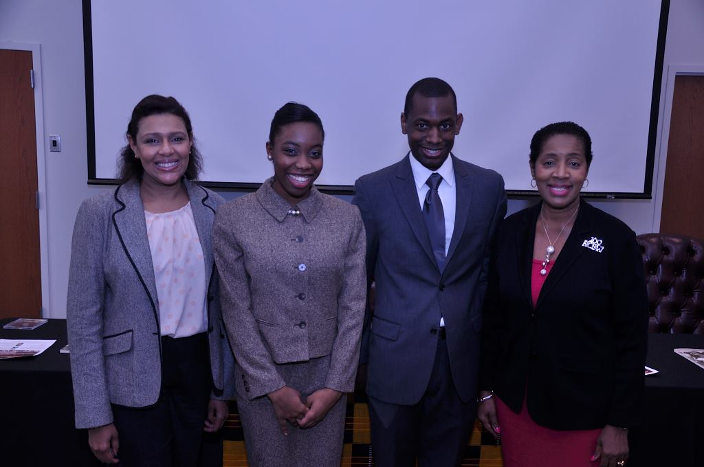 Photo courtesy of Highlighting Success, Inc. Panelists from left to right: Gail Lewis, Ashley Simon, Rhoundy Jones and Wilma Holmes Tootle.