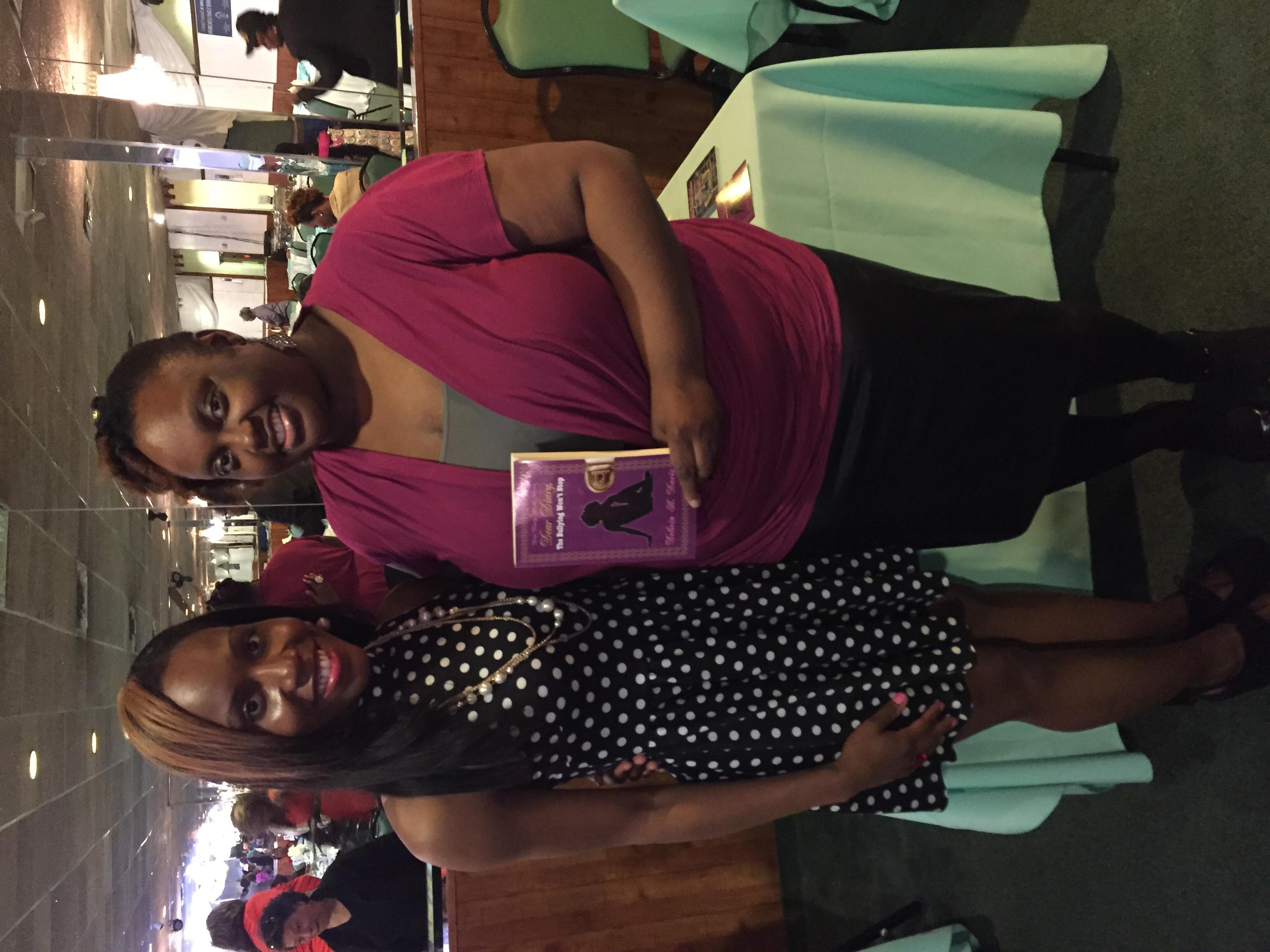 Author, Delicia B. Davis and me, Crystal Haynes of CrystalSays.com