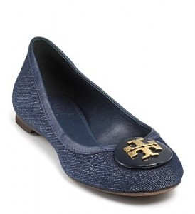 Fun denim flats