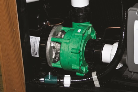 LOW AMPERAGE EVERGREEN PUMP  HIGH FLOW, LOW ENERGY PUMPS   Our pumps are engineered to produce high flow rates with low energy output, resulting in filtration that is 26% more efficient than the competition.