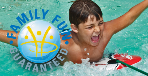 THERE IS EVEN MORE FUN TO BE HAD   *Turn off the current in the swim channel and you have a splash pool *Adults can relax comfortably in the seating end while watching the kids splash and swim *Attach a harness to the new AquaPlay Anchor and use a Boogie board