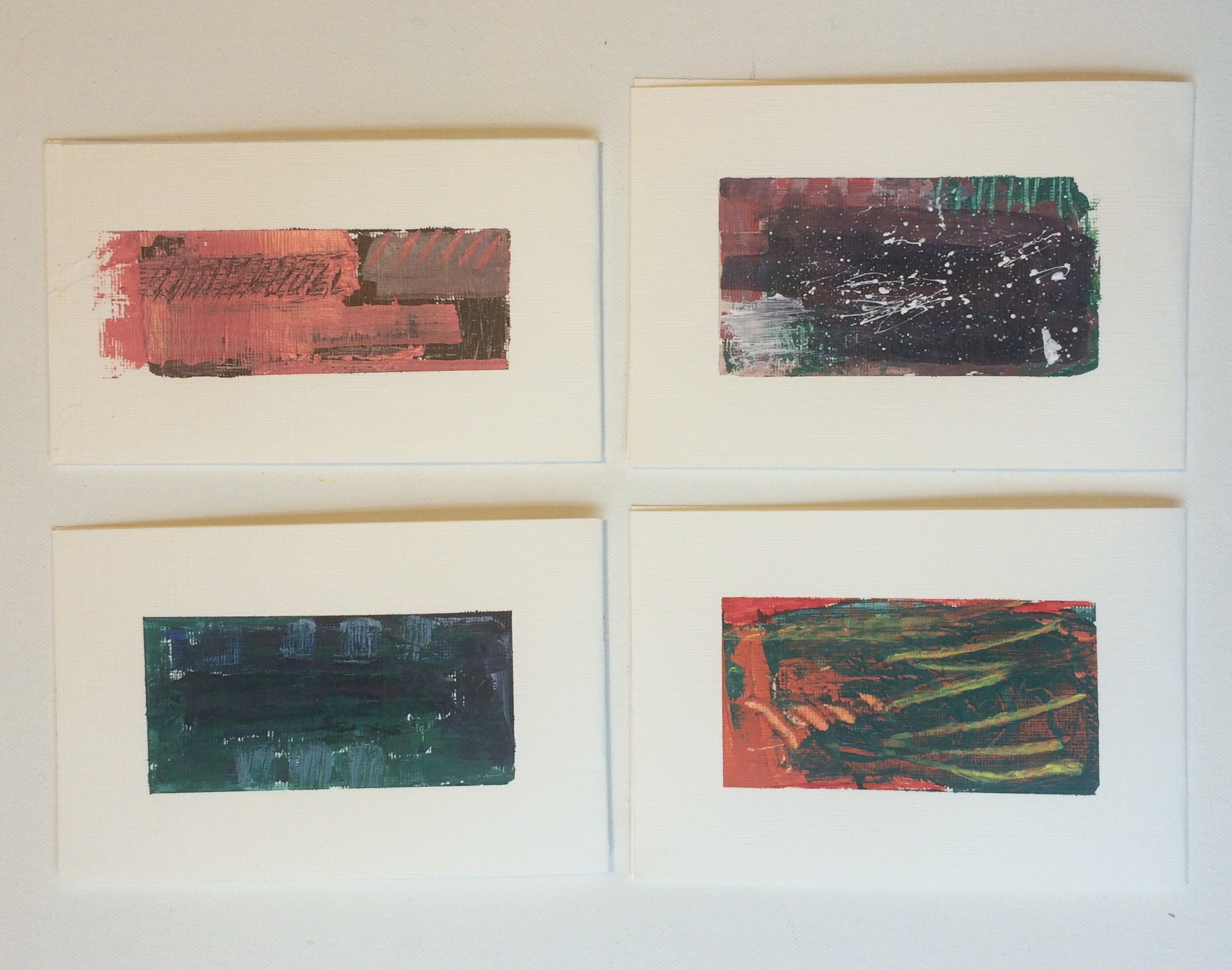 mini abstract pieces
